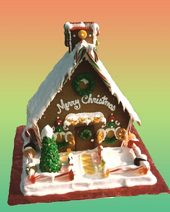 Crhistmas cabin gingerbread house personalized personalization