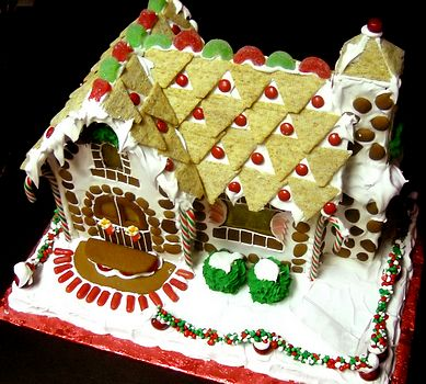 elf's Gingerbread House cobblestone cottage