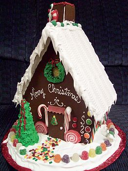 Elifin Cottage Aframe Gingerbread House Candies Inside