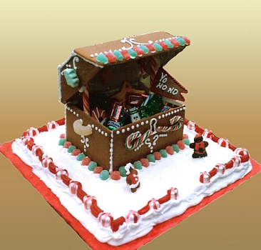 Gingerbread House treasure chest candy chest